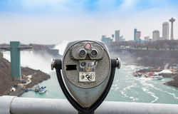 faller niagara USA Royaltyfri Fotografi