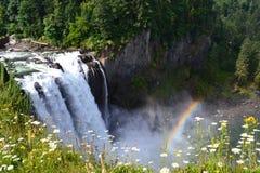 faller regnbågesnoqualmie Royaltyfri Bild