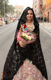 Fallera in Valencia Lizenzfreie Stockfotografie