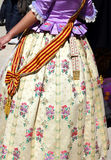 Falleras costume fallas dress detail from Valencia Royalty Free Stock Photography