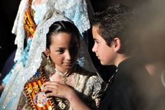 Traditional spanish costumes Royalty Free Stock Images