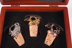 fallet stoppers wine royaltyfri fotografi
