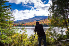 Fallfarbe im Adirondacks Lizenzfreies Stockfoto