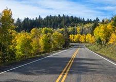 Fallfarben, Utah lizenzfreie stockbilder