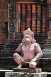 Fallhammer-Statue Banteay Srei - Kambodscha Stockfotos
