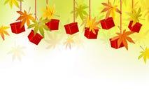 Fallhintergrund - Herbstblätter - würzen Sie Verkauf Stockfoto