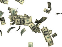 Falling 100 dollar bills  Royalty Free Stock Photography