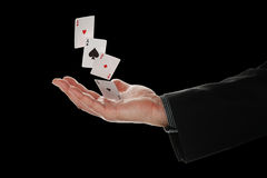 Falling aces Royalty Free Stock Photos