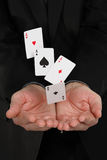 Falling aces Stock Image