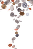 Falling American Coins Stock Image