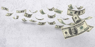 Falling American Currency Royalty Free Stock Images