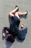 Falling angel on ground royalty free stock images