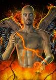 Falling Angel Portrait Stock Photos