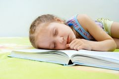 Falling asleep Royalty Free Stock Photography