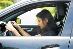 Free Falling Asleep At The Wheel Royalty Free Stock Photography - 47185837