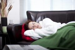 Falling asleep Watching TV royalty free stock photo