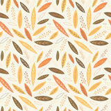 Falling autumn leaves seamless pattern Stock Images