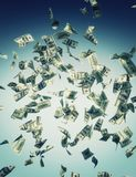 Falling banknote Stock Photos