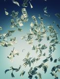 Falling banknotes. Falling banknote represent economic crisis Stock Photography
