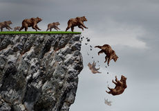 Falling Bear Market Crisis Royalty Free Stock Photography