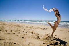 Falling in Bikini Stock Photography