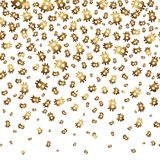 Falling bitcoins, seamless background. Vector illustration. Stock Photography