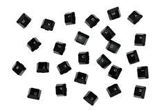 Falling black keyboard key Stock Photo