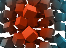 Falling blocks. Cubes falling with blank faces, so you can fill it Vector Illustration