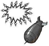 Falling bomb-100 Royalty Free Stock Image