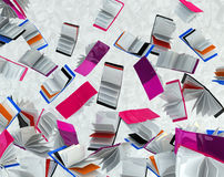 Falling Books. Falling book abstract background 3d rendering, horizontal Royalty Free Stock Image