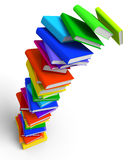 Falling Books Stack. 3D rendered Illustration of overloaded and falling books stack Stock Images