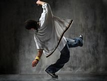 Falling breakdancer Royalty Free Stock Images