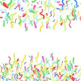 Falling bright colorful childish confetti abstract paper cut dec Stock Photography