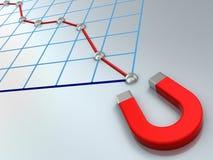 Falling business diagram Stock Photos