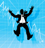 Falling businessman Royalty Free Stock Photography