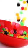 Falling candy. Royalty Free Stock Image