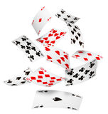 Falling cards Royalty Free Stock Image