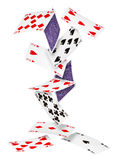 Falling cards Royalty Free Stock Photo