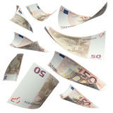 Falling cash Stock Images