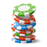 Falling casino chips. Vector illustration of falling casino chips royalty free illustration