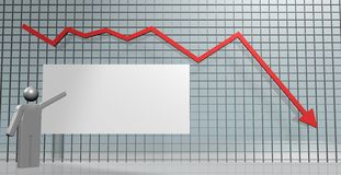 Falling chart Royalty Free Stock Images