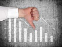 Falling chart Royalty Free Stock Photography