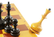 Falling chess queen Stock Image