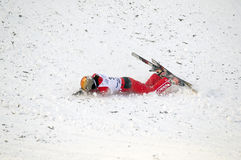 Falling Chinese Athlete CHENG Shuang Stock Photography