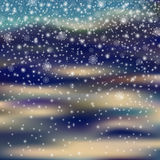 Falling christmas decoration snow on blured background, snowflak Stock Photos
