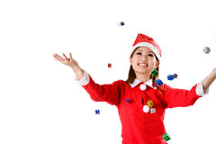 Falling Christmas Gifts Stock Images