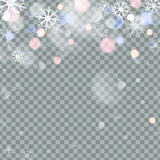 Falling Christmas Shining transparent beautiful snow isolated on transparent background. Snowflakes, snowfall. snowflake. Vector. Vector illustration vector illustration