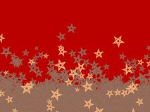 Falling Christmas stars in different colours Royalty Free Stock Photos