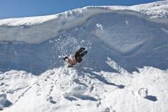 Falling climber. Royalty Free Stock Image