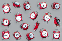 Falling clocks Royalty Free Stock Photo